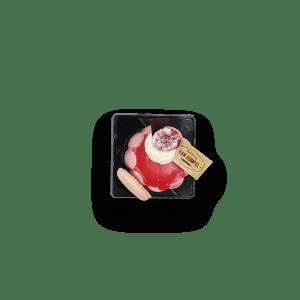 Framboosmousse met cremeux van framboos