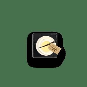 Vanillemousse met cremeux van passievrucht
